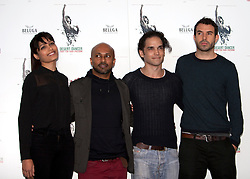 © Licensed to London News Pictures. 09/10/2012. London, U.K..(L-R) Freida Pinto  , Akram Khan , Reece Ritchie, and Tom Cullen  at the Photo call held at Sadlers Wells theatre with FOR the film DESERT DANCER directed by Richard Raymond and choreographed by Akram Khan. ..Photo credit : Rich Bowen/LNP