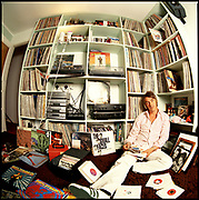 Paul Weller and a large record collection, Woking 1990s