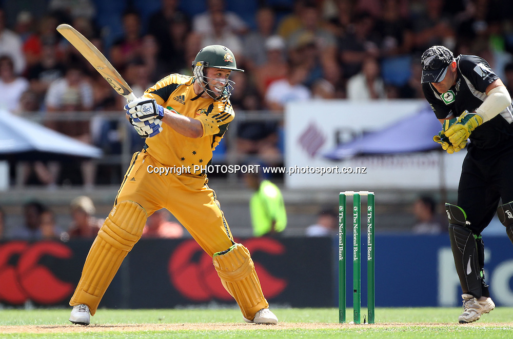 Australia's &quot;Mr Cricket&quot; Michael Hussey batting.<br />