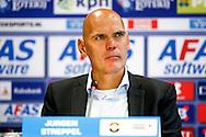 23-08-2015 VOETBAL:AZ-WILLEM II:ALKMAAR <br /> Eredivisie 2015-2016 <br /> <br /> Trainer/Coach Jurgen STREPPEL van Willem II tijdens de persconferentie<br /> <br /> Foto: Geert van Erven