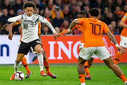 24-03-2019 NED: UEFA Euro 2020 qualification Netherlands - Germany, Amsterdam<br /> Netherlands lost the match 3-2 in the last minute / Leroy Sane #19 of Germany