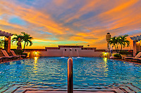 The Pool at the Hyatt Regency Orlando International Airport at sunrise