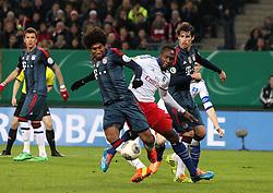 Football: Germany, DFB Cup<br /> Ola John (Hamburger SV, HSV) - <br /> Dante and Javi Martinez (FC Bayern Muenchen)