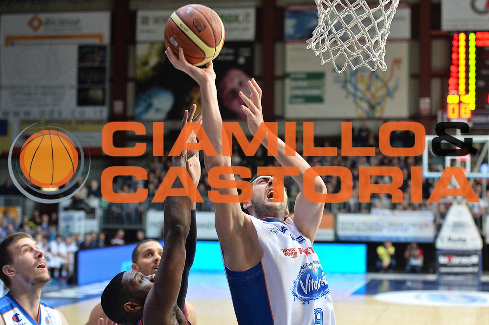 DESCRIZIONE : Cant&ugrave; Lega A 2014-15Acqua Vitasnella Cant&ugrave; Acea Roma<br /> GIOCATORE : Giacomo Maspero<br /> CATEGORIA : Tiro<br /> SQUADRA : Acqua Vitasnella Cant&ugrave;<br /> EVENTO : Campionato Lega A 2014-2015<br /> GARA : Acqua Vitasnella Cant&ugrave; Acea Roma<br /> DATA : 11/01/2015<br /> SPORT : Pallacanestro <br /> AUTORE : Agenzia Ciamillo-Castoria/I.Mancini<br /> Galleria : Lega Basket A 2013-2014  <br /> Fotonotizia : Cant&ugrave; Lega A 2013-2014 Acqua Vitasnella Cant&ugrave; Acea Roma<br /> Predefinita :