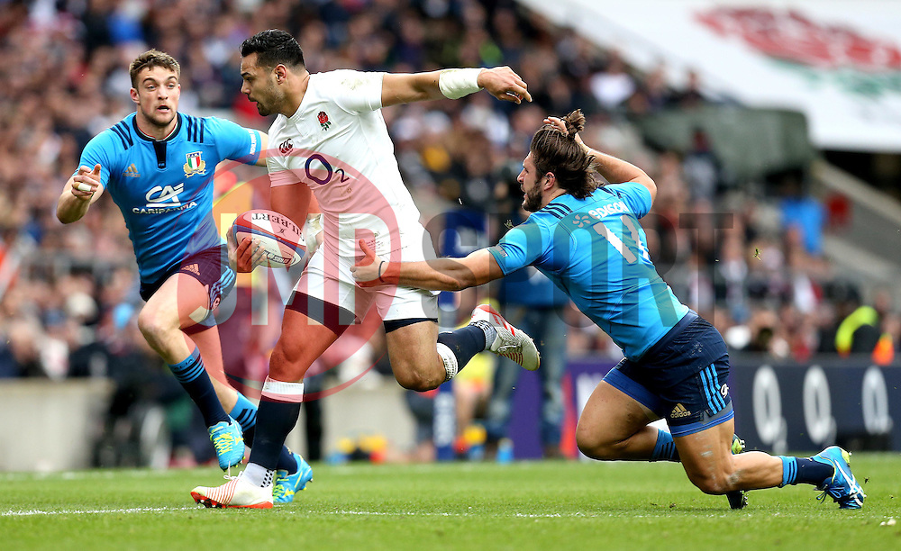 Ben Te'o of England goes past Giovanbattista Venditti of Italy - Mandatory by-line: Robbie Stephenson/JMP - 26/02/2017 - RUGBY - Twickenham Stadium - London, England - England v Italy - RBS 6 Nations round three