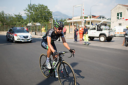 Anouska Koster (NED) of WM3 Pro Cycling Team rides the last few hundred meters of Stage 7 of the Giro Rosa - a 141.9 km road race, between Isernia and Baronissi on July 6, 2017, in Isernia, Italy. (Photo by Balint Hamvas/Velofocus.com)