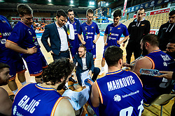 Dejan Jakara, head coach of Helios Suns during basketball match between KK Hopsi Polzela and KK Helios Suns in semifinal of Spar Cup 2018/19, on February 16, 2019 in Arena Bonifika, Koper / Capodistria, Slovenia. Photo by Vid Ponikvar / Sportida