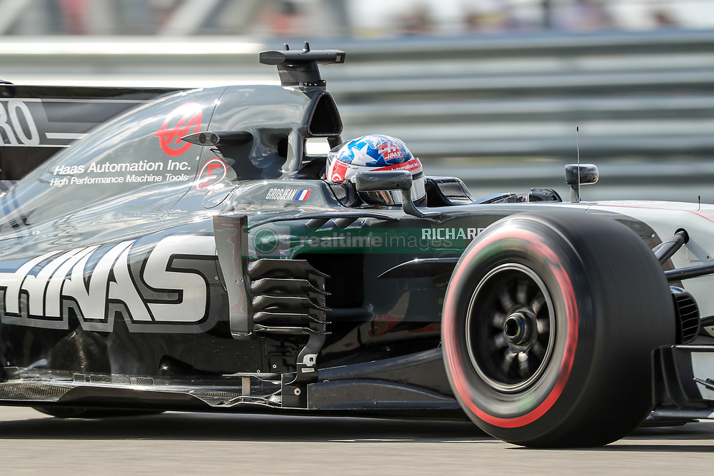 October 21, 2017 - Austin, Texas, U.S - Lotus driver Romain Grosjean (8) of France in action during the final practice before the Formula 1 United States Grand Prix race at the Circuit of the Americas race track in Austin,Texas. (Credit Image: © Dan Wozniak via ZUMA Wire)