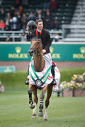 Brash Scott, (GBR), Hello Sanctos winner of the CP International Grand Prix presented by Rolex<br /> Spruce Meadows Masters - Calgary 2015<br /> © Hippo Foto - Dirk Caremans<br /> 13/09/15
