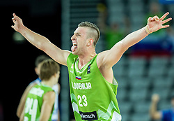 Alen Omic of Slovenia reacts during basketball match between Slovenia vs Greece at Day 5 in Group C of FIBA Europe Eurobasket 2015, on September 9, 2015, in Arena Zagreb, Croatia. Photo by Vid Ponikvar / Sportida