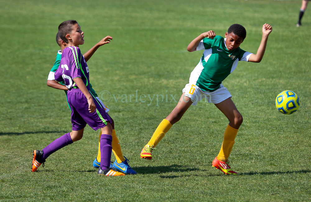 01 May 2016. Memphis, Tennessee. <br /> The Adidas Premier Invitational hosted by the Mike Rose Soccer Complex. <br /> Finals. New Orleans Jesters Youth Academy U10 Purple v  Southwest Jackson SL Blaze.<br /> Jesters win 2-1.<br /> Photo©; Charlie Varley/varleypix.com