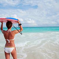 Boogie boarding in Barbados
