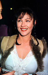 Actress FRANCES BARBER at an exhibition in London on 27th September 1999.MWT 71