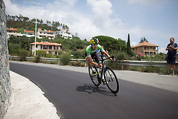 Krista Doebel-Hickok (USA) of Cylance Pro Cycling tackles a sharp corner during the Giro Rosa 2016 - Stage 7. A 21.9 km individual time trial from Albisola to Varazze, Italy on July 8th 2016.