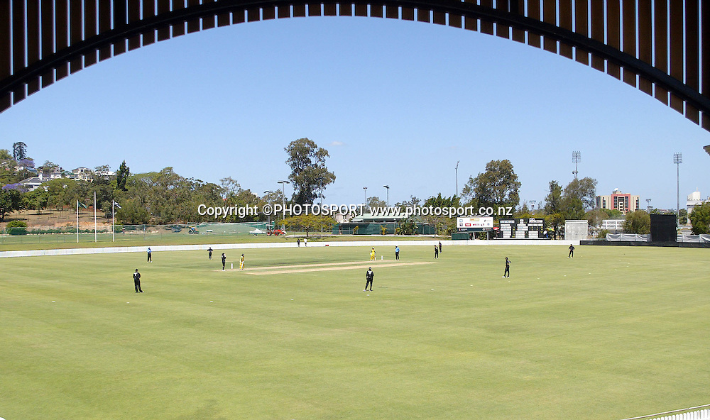 A general view of the first ODI Rose Bowl cricket match between the White Ferns and Australia at Allan Border Field, Brisbane, Australia, on Friday 20 October 2006. Photo: Renee McKay/PHOTOSPORT<br /><br /><br />201006