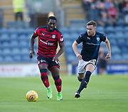 Dundee&rsquo;s Roarie Deacon and Raith&rsquo;s Lewis Vaughan - Raith Rovers v Dundee, Betfred Cup at Starks Park, Kirkcaldy, Photo: David Young<br /> <br />  - &copy; David Young - www.davidyoungphoto.co.uk - email: davidyoungphoto@gmail.com