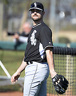 GLENDALE, AZ - FEBRUARY 25:  David Robertson #30 of Chicago White Sox looks on during spring training workouts on February 25, 2015 at The Ballpark at Camelback Ranch in Glendale, Arizona. (Photo by Ron Vesely)   Subject:   David Robertson
