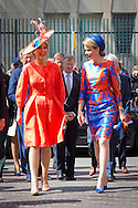 The Hague, 20-05-2015 <br /> <br /> Queen Maxima and QueenMathilde opened the Art Exhibition Statues on the sea.<br /> <br />  Photo:Royalportraits Europe/Bernard Ruebsamen