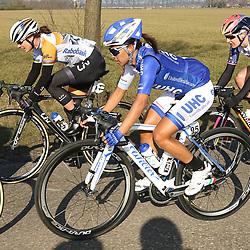 13-03-2016: Wielrennen: Acht van Dwingeloo: Dwingeloo<br />DWINGELOO (NED) wielrennen<br />Back in the race Marianne Vos with Coryn Rivera (USA) and Megan Gaunier (USA)