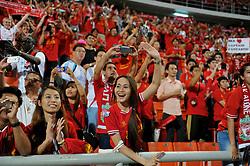 BANGKOK, THAILAND - Sunday, July 28, 2013: Liverpool supporters during a preseason friendly match against Thailand XI at the Rajamangala National Stadium. (Pic by David Rawcliffe/Propaganda)
