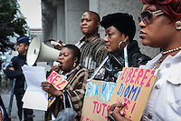About 100 Congolese in Brussels held a sit-in in front of the Embassy of Congo, to demand freedom for Eugène Diomi Ndongala, President of DC, the Christian Democratic party, supporting Kabila's opponent Etienne Tshisekedi, who was picked up my military forces and never heard of again, while going to  speak at a political rally in front of a cathedral. Brussels 20120 13 July