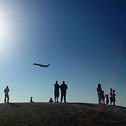 An afternoon at Jacques de Lesseps Park watching the airplanes take off at Trudeau airport.