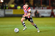 Matt Jay (17) of Exeter City on the attack during the EFL Sky Bet League 2 match between Exeter City and Cheltenham Town at St James' Park, Exeter, England on 16 November 2019.
