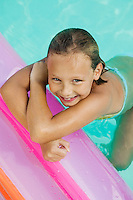 Girl Relaxing in Pool