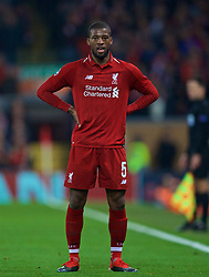 LIVERPOOL, ENGLAND - Tuesday, December 11, 2018: Liverpool's Georginio Wijnaldum during the UEFA Champions League Group C match between Liverpool FC and SSC Napoli at Anfield. (Pic by David Rawcliffe/Propaganda)