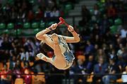 Valeria Pomponi atleta della società Flaminio di Roma durante la seconda prova del Campionato Italiano di Ginnastica Ritmica.<br /> La gara si è svolta a Desio il 31 ottobre 2015.