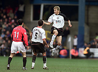 Junichi Inamoto (Fulham). Fulham v Manchester United. 28/2/04. Credit : Digitalsport/Andrew Cowie.