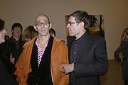 Arturo Zlinsky and Dexter Dalwood, Dexter Dalwood, Gagosian Gallery. 14 December 2006. ONE TIME USE ONLY - DO NOT ARCHIVE  © Copyright Photograph by Dafydd Jones 248 CLAPHAM PARK RD. LONDON SW90PZ.  Tel 020 7733 0108 www.dafjones.com