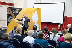 © Licensed to London News Pictures. 14/06/2019. Manchester, UK. The Liberal Democrat Party hold a leadership hustings at the St Thomas Centre in Ardwick , Manchester , between candidates Jo Swinson and Ed Davey . Photo credit: Joel Goodman/LNP