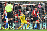 Jason Steele (23) of Brighton and Hove Albion makes a save from the shot of David Brooks (20) of AFC Bournemouth during the The FA Cup 3rd round match between Bournemouth and Brighton and Hove Albion at the Vitality Stadium, Bournemouth, England on 5 January 2019.