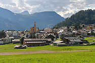 The village of Lenz with a view to the west, Parc Ela, Grisons, Switzerland