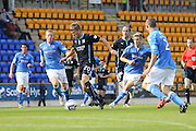 Jim McAlister bursts through the St Johnstone defence -  St Johnstone v Dundee, SPFL Premiership at McDiarmid Park<br /> <br />  - &copy; David Young - www.davidyoungphoto.co.uk - email: davidyoungphoto@gmail.com
