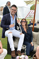 SPENCER MATTHEWS and SASKIA WINBERGH at the Cartier Queen's Cup Polo final at Guard's Polo Club, Smiths Lawn, Windsor Great Park, Egham, Surrey on 14th June 2015