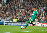 Keylor Navas of Real Madrid during the UEFA Champions League match at the Estadio Santiago Bernabeu, Madrid<br /> Picture by Marcos Calvo Mesa/Focus Images Ltd +34 654142934<br /> 03/11/2015