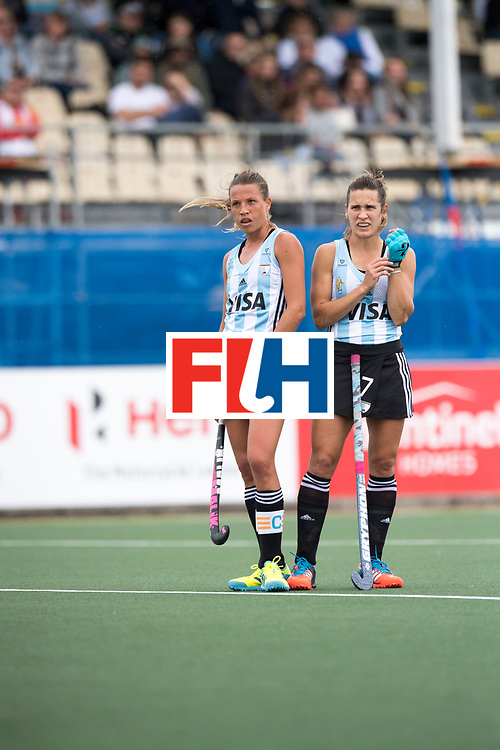 AUCKLAND - Sentinel Hockey World League final women<br /> Match id 10294<br /> 04 Argentina v China.<br /> Foto: Delfina Merino and Martina Cavallero (r) waiting foe a video decision.<br /> WORLDSPORTPICS COPYRIGHT FRANK UIJLENBROEK