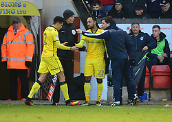 Byron Moore of Bristol Rovers replaces Daniel Leadbitter of Bristol Rovers - Mandatory by-line: Alex James/JMP - 21/01/2017 - FOOTBALL - Banks's Stadium - Walsall, England - Walsall v Bristol Rovers - Sky Bet League One