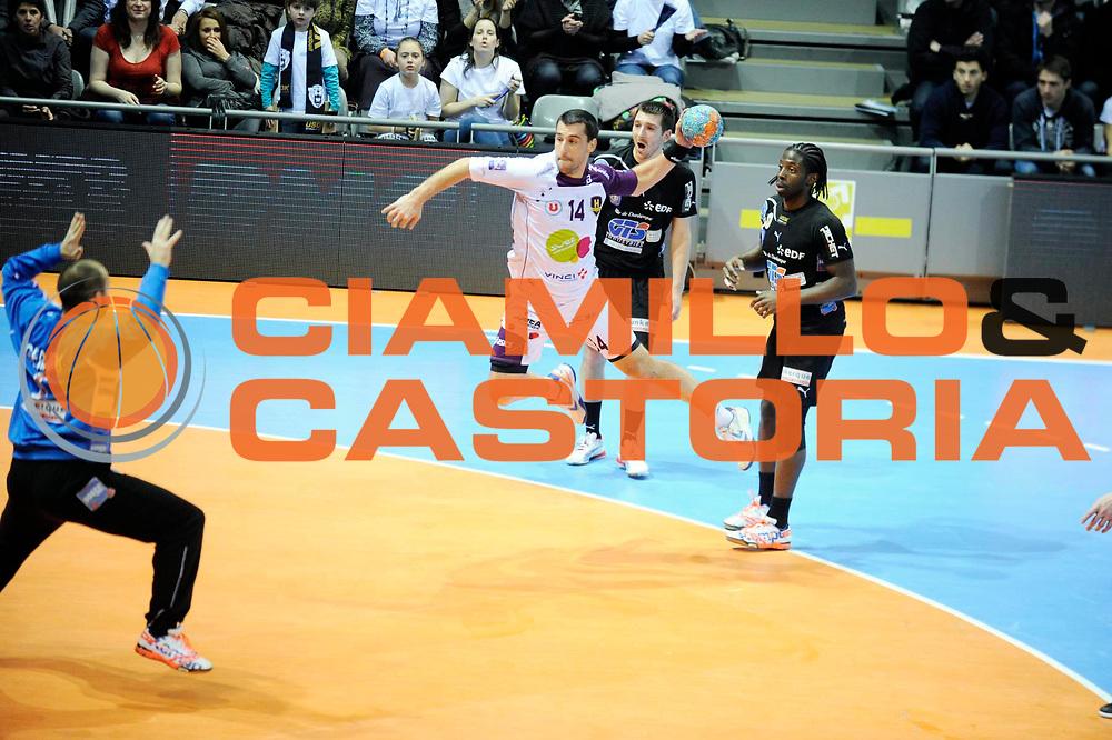 DESCRIZIONE : Hand D1 Coupe de la Ligue Finale a Toulouse<br /> GIOCATORE : Frederic DOLE<br /> SQUADRA : Nantes<br /> EVENTO : Hand D1 Coupe de la Ligue <br /> GARA : Nantes Dunkerque<br /> DATA : 09/12/2012<br /> CATEGORIA : Hand D1 <br /> SPORT : Handball<br /> AUTORE : JF Molliere <br /> Galleria : France Hand 2012-2013 Action<br /> Fotonotizia : Hand D1 Coupe de la Ligue Finale a Toulouse<br /> Predefinita :