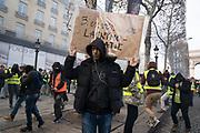 France, Paris, 8 December 2018. Yellow Vest mouvement, Acte 4.
