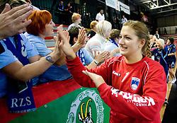 Branka Zec of Slovenia after the Women European Championships Qualifying handball match between National Teams of Slovenia and Belarus, on October 17, 2009, in Kodeljevo, Ljubljana.  (Photo by Vid Ponikvar / Sportida)