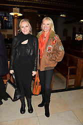 Left to right, CAROLINE, LADY MACTAGGART and ANNEKA RICE at a reception and debate to celebrate the publication of  'Women in Waiting, Prejudice at the the Heart of the Church' by Julia Ogilvy held at St.James's Church, 197 Piccadilly, London on 11th March 2014.