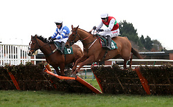 Driftwood Haze ridden by Mitchell Bastyan (left) and Ocean Cove ridden by Paddy Brennan compete in the Start Your RacingTV Free Trial Now Handicap Hurdle during Midlands Raceday at Warwick Racecourse.