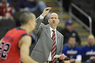 Ole Miss head coach Andy Kennedy vs. Wisconsin in the NCAA Tournament at the Sprint Center in Kansas City, Mo. on Friday, March 22, 2013.