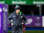 Mike Ford attack coach of Leicester Tigers during the pre match warm up<br /> <br /> Photographer Simon King/Replay Images<br /> <br /> European Rugby Challenge Cup Round 2 - Cardiff Blues v Leicester Tigers - Saturday 23rd November 2019 - Cardiff Arms Park - Cardiff<br /> <br /> World Copyright © Replay Images . All rights reserved. info@replayimages.co.uk - http://replayimages.co.uk