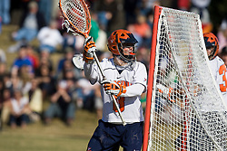 Virginia Cavaliers G Adam Ghitelman (8) in action against Drexel.  The #2 ranked Virginia Cavaliers defeated the Drexel Dragons 13-7 at the University of Virginia's Klockner Stadium in Charlottesville, VA on February 14, 2009.