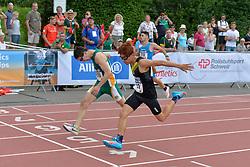 05/08/2017; Briers-Louw, Daniel, T13, RSA, Chessani Garcia, Mario Andres, MEX at 2017 World Para Athletics Junior Championships, Nottwil, Switzerland