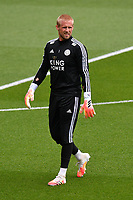 Football - 2019 / 2020 Premier League - Watford vs. Leicester City<br /> <br /> Leicester City's Kasper Schmeichel during the pre-match warm-up, at Vicarage Road.<br /> <br /> COLORSPORT/ASHLEY WESTERN